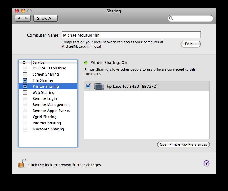 Setting up a printer in VMWare Ubuntu instance | MacLochlainns Weblog