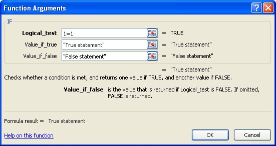 how to write an if then statement in excel 2007