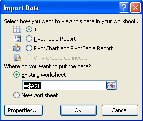 How to Query Oracle from Excel