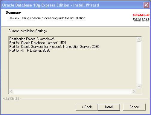 oracle10gxeinstall07