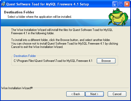 ToadMySQL5