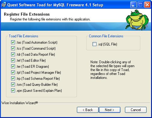 ToadMySQL6