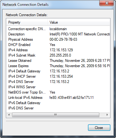 how to set up a static local ip address