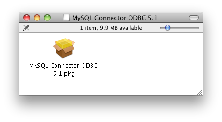 Install MySQL Mac ODBC Install Screen Shot #1