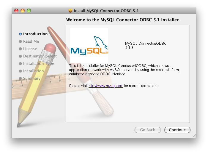 Install MySQL Mac ODBC Install Screen Shot #2