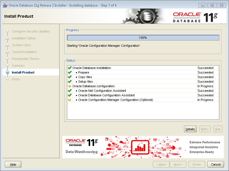 oracle database  windows 7 64 bit