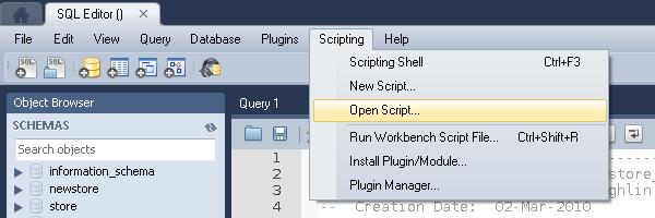 MySQL Workbench | MacLochlainns Weblog