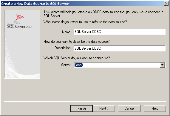 SQL Server ODBC DSN | MacLochlainns Weblog