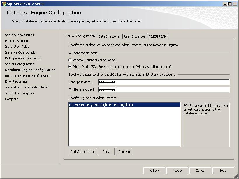 Microsoft sql server maclochlainns weblog after entering the sql server ccuart Choice Image