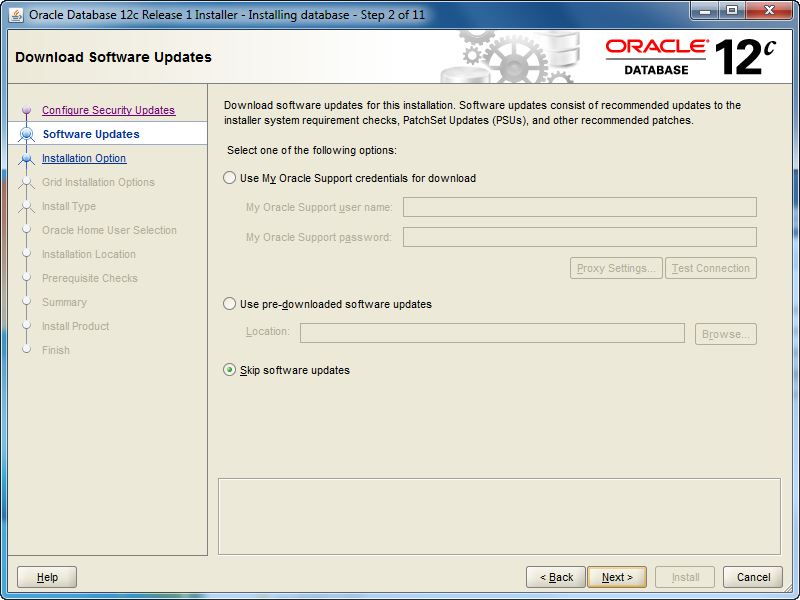 Oracle 12c Install on Windows