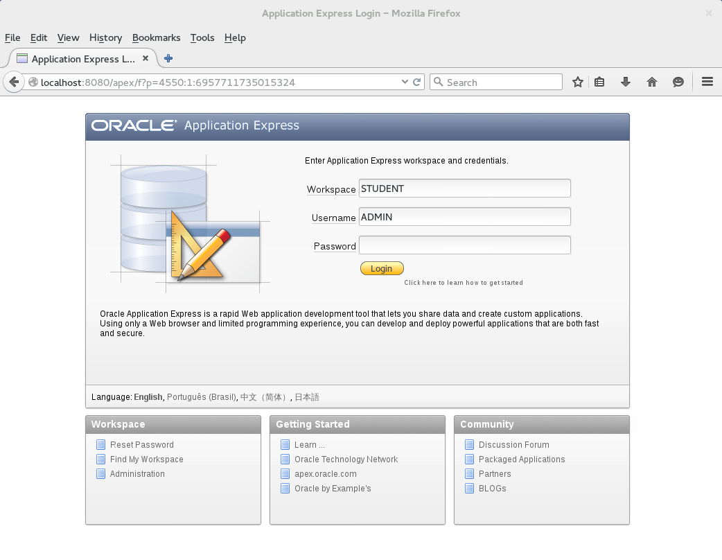 How to write free-form queries in Oracle Apex